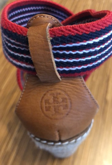 Tory Burch red blue and white Wedges Image 7