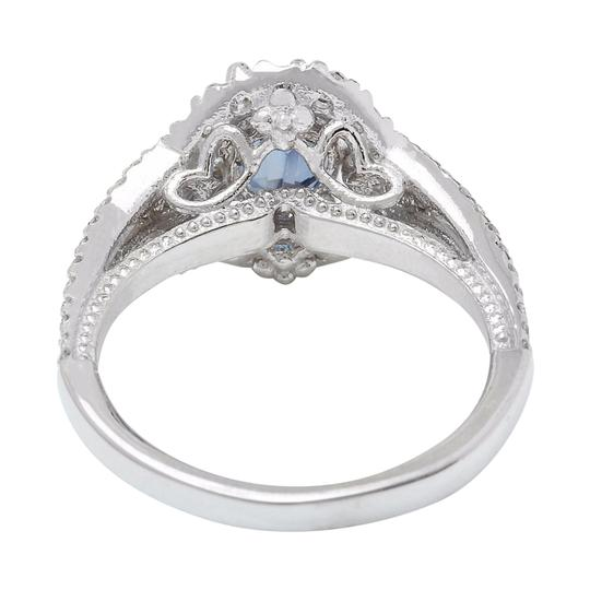 Fashion Strada 2.59 Carat Natural Sapphire 14K Solid White Gold Diamond Ring Image 2