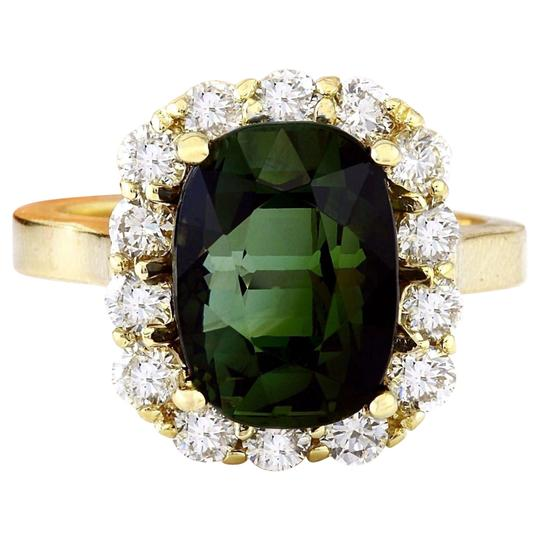 Preload https://img-static.tradesy.com/item/25171053/green-900-carat-natural-tourmaline-14k-solid-yellow-gold-diamond-ring-0-0-540-540.jpg