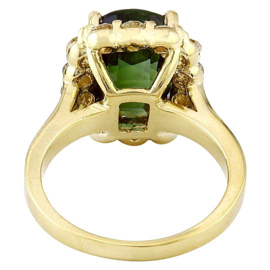 Fashion Strada 9.00 Carat Natural Tourmaline 14K Solid Yellow Gold Diamond Ring Image 4