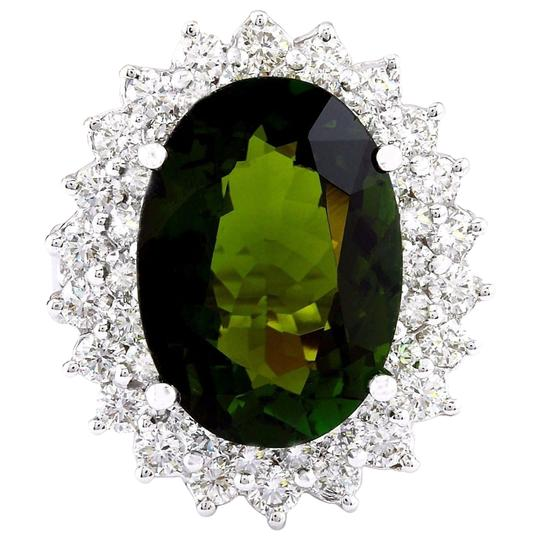 Preload https://img-static.tradesy.com/item/25171092/green-1029-carat-natural-tourmaline-14k-solid-white-gold-diamond-ring-0-0-540-540.jpg