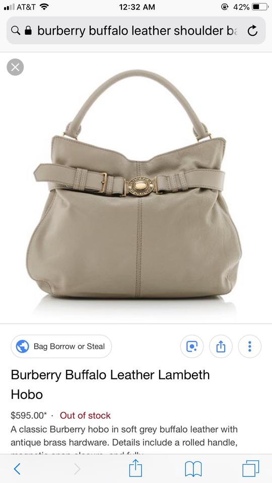 13eabeeb91b1 Burberry Buckle Light Gray Leather Satchel - Tradesy