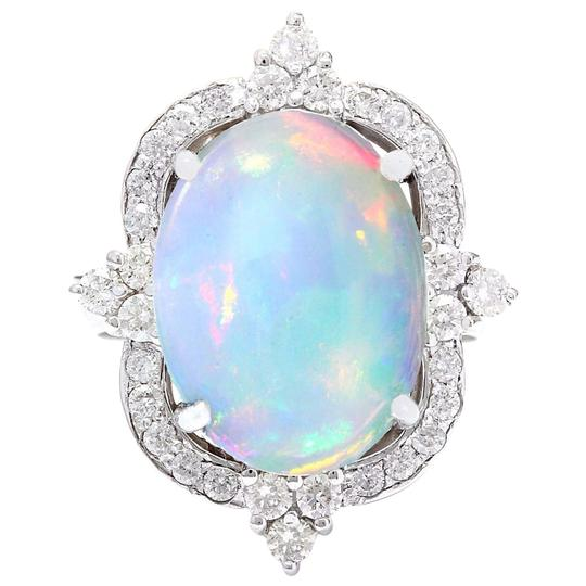 Preload https://img-static.tradesy.com/item/25171172/multicolor-626-carat-natural-opal-14k-solid-white-gold-diamond-ring-0-0-540-540.jpg