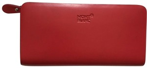 Mont Blanc MONT BLANC Red leather Wallet