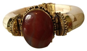 Red Carnelian, Bone & Gold Statement Bracelet Only! Additional Matching Pieces Sold Seperately