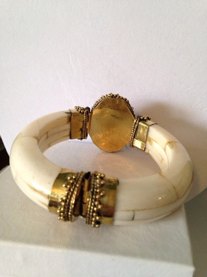 Other Red Carnelian, Bone & Gold Statement Bracelet Only! Additional Matching Pieces Sold Seperately Image 3