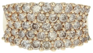 Other Diamond Cluster Ring - 14k Yellow Gold Medium Champagne Brown U2356