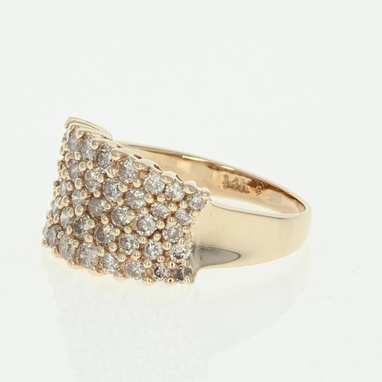 Other Diamond Cluster Ring - 14k Yellow Gold Medium Champagne Brown U2356 Image 1
