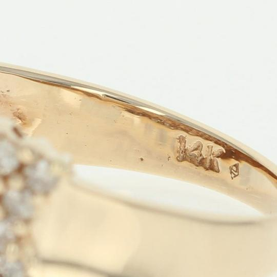 Other Diamond Cluster Ring - 14k Yellow Gold Medium Champagne Brown U2356 Image 3