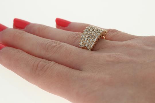 Other Diamond Cluster Ring - 14k Yellow Gold Medium Champagne Brown U2356 Image 5
