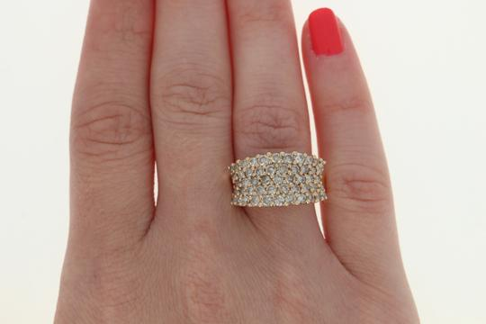 Other Diamond Cluster Ring - 14k Yellow Gold Medium Champagne Brown U2356 Image 6
