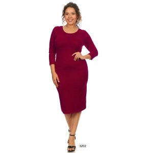 Burgundy Maxi Dress by Yelete Midi Bandage Bodycon Wine