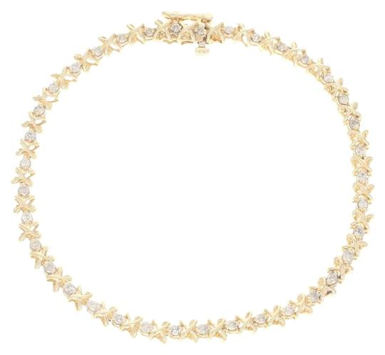 Preload https://img-static.tradesy.com/item/25171360/yellow-gold-diamond-tennis-12-14k-round-brilliant-u4555-bracelet-0-1-540-540.jpg
