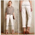 Anthropologie Straight Pants white Image 1