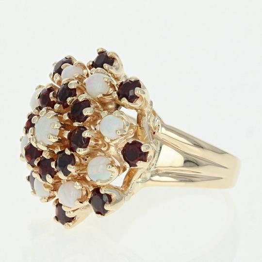 Other Ruby & Opal Cluster Cocktail Ring - 14k Yellow Gold Round U4619 Image 1