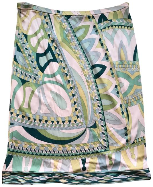 Item - Multicolor Green Patterned It 42/Us Skirt Size 6 (S, 28)