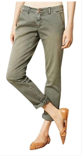 Item - Olive/Sage Green Pilcro & The Letterpress Chinos Straight Leg Jeans Size 4 (S, 27)
