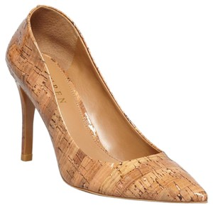 Lauren Ralph Lauren Tan, Nude, Cork, Brown Pumps