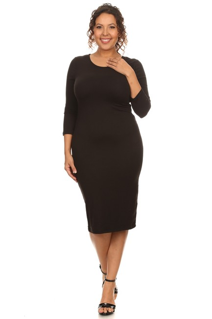 Black Maxi Dress by Yelete Midi Bandage Bodycon Image 1