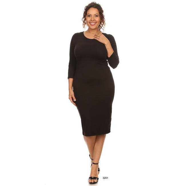 Black Maxi Dress by Yelete Midi Bandage Bodycon Image 2