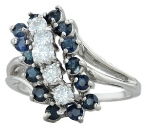 Other 1.86ctw Sapphire & Diamond Cocktail Ring - 14k White Gold Size 9