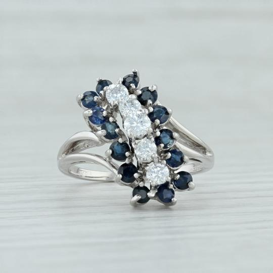 Other 1.86ctw Sapphire & Diamond Cocktail Ring - 14k White Gold Size 9 Image 1