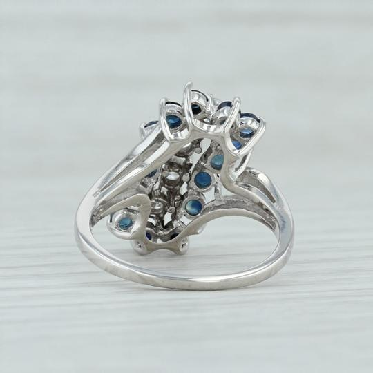 Other 1.86ctw Sapphire & Diamond Cocktail Ring - 14k White Gold Size 9 Image 3