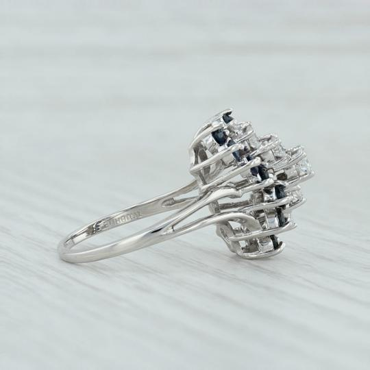 Other 1.86ctw Sapphire & Diamond Cocktail Ring - 14k White Gold Size 9 Image 4