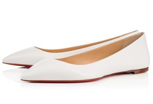 Christian Louboutin Ballala Pointed Toe white Flats
