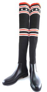 8589aba7b Givenchy Over Knee Storm #28653 black red white Multicolored Boots