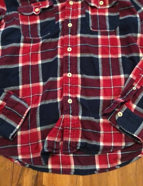 American Eagle Outfitters Button Down Shirt Red, White and Blue Image 1