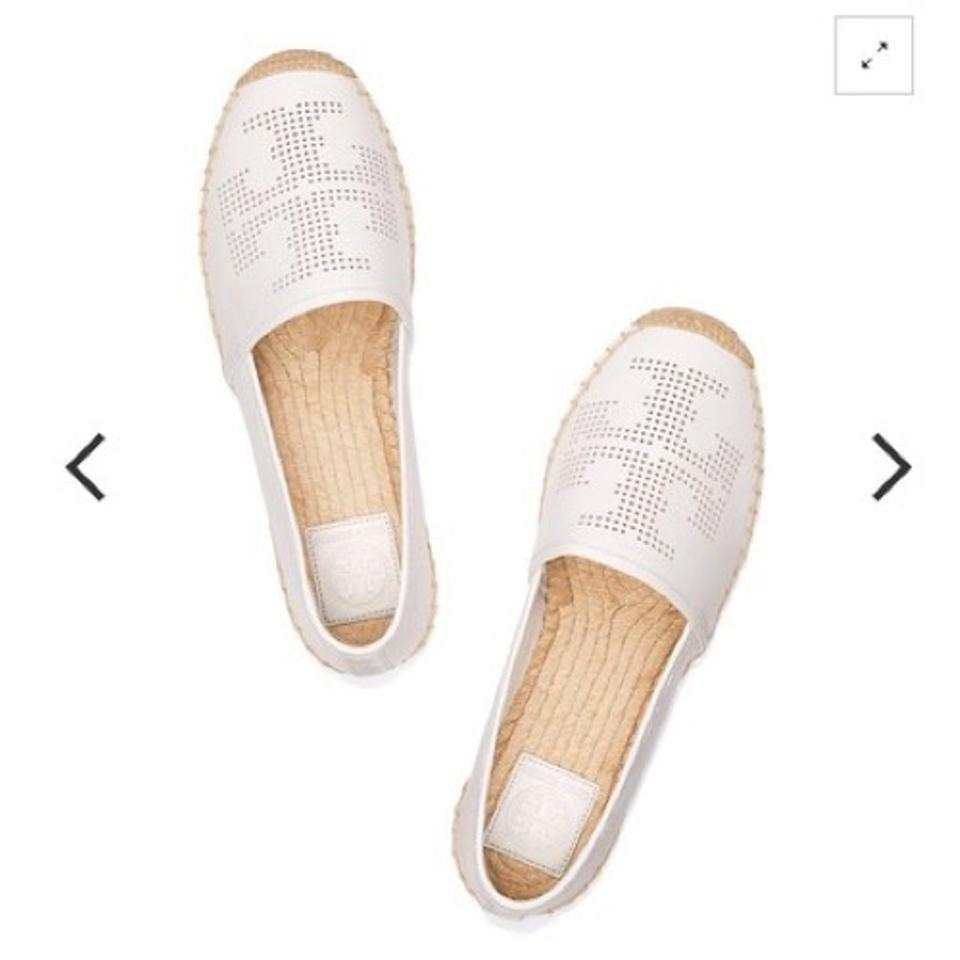 20a76d3263f7 Tory Burch White Perforated Logo Espadrille Flats. Size  US 8 Regular (M ...