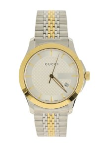 Gucci and Gold Tone G-Timeless