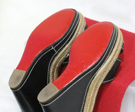 Christian Louboutin Black Wedges Image 2