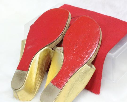 Christian Louboutin Gold Sandals Image 1