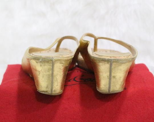 Christian Louboutin Gold Sandals Image 2