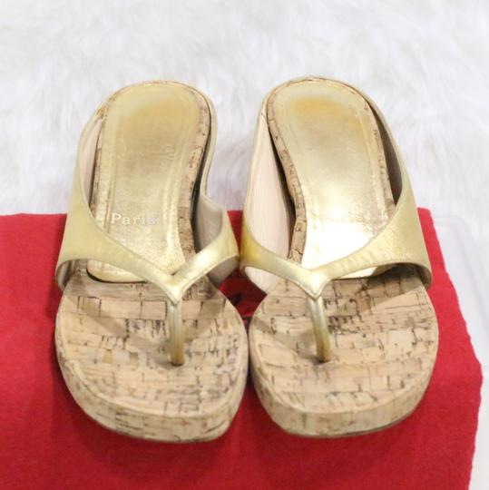 Christian Louboutin Gold Sandals Image 3