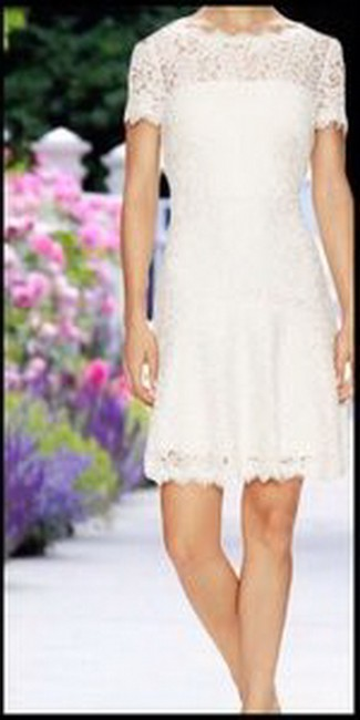 Diane von Furstenberg Fifi Fit And Flare Lace Hollywood Date Dress Image 2
