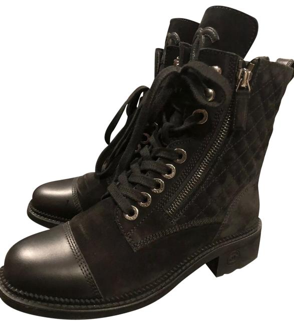 Item - Black Up Combat Fall 2018 Boots/Booties Size US 5.5 Narrow (Aa, N)