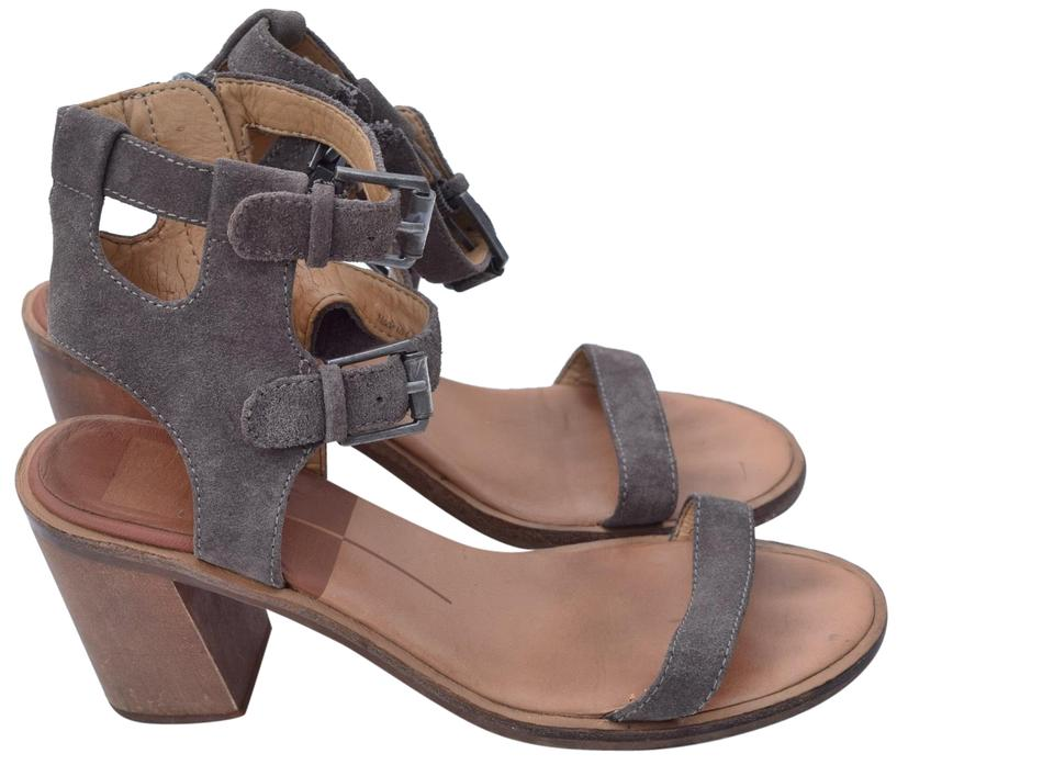 3e31ecc302a Dolce Vita Taupe Chunky Heels Ankle Wrap Sandals Size US 8 Regular ...