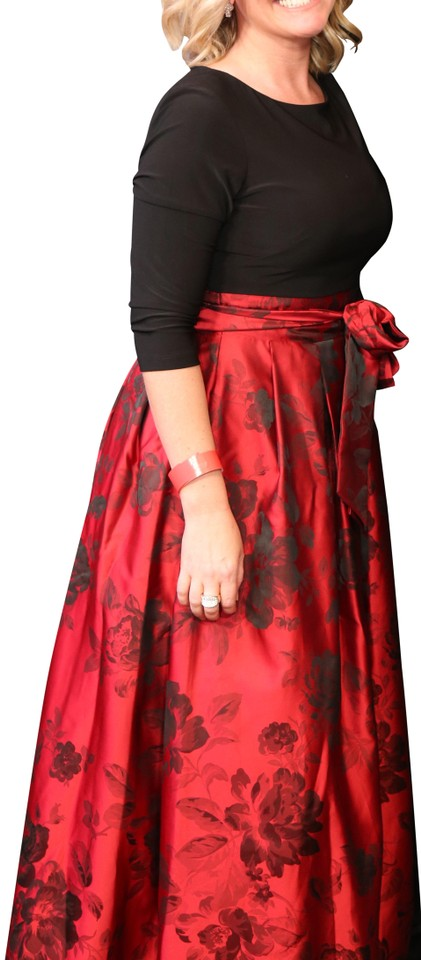 b7cf17374 Jessica Howard Red Red Black Ballgown Long Formal Dress Size 10 (M ...