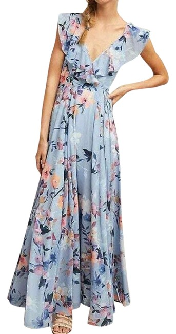 Item - Multicolor Hudson Yumi Kim Floral Long Night Out Dress Size 6 (S)