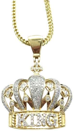 Preload https://img-static.tradesy.com/item/25171986/772-10k-yellow-gold-miami-cuban-chain-with-diamond-king-pendant-0-1-540-540.jpg