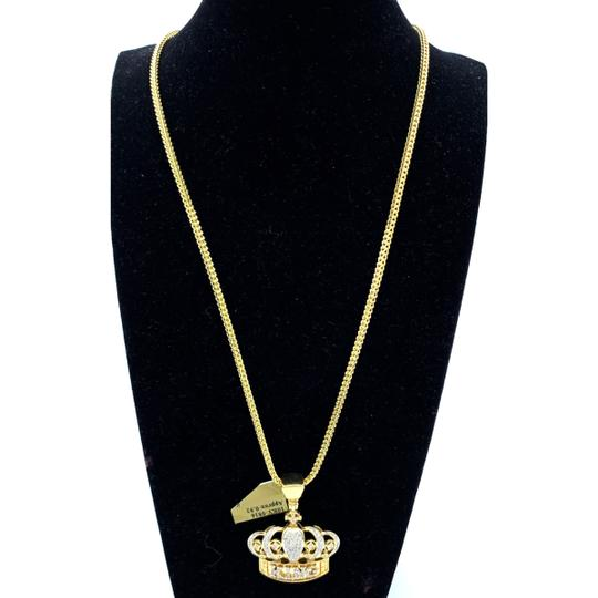 other (772) 10k yellow gold miami cuban chain with diamond king pendant Image 1