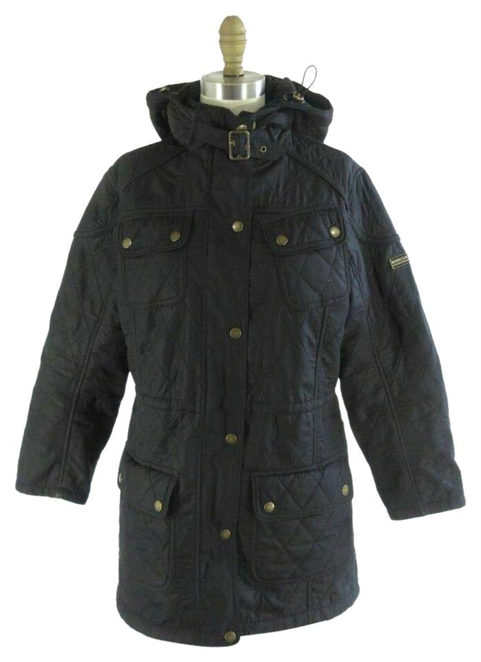 Barbour Black Womens Quilted Hooded Anorak Winter Jacket