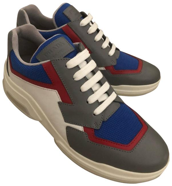 Item - Gray White Blue Red Sneakers Size EU 40 (Approx. US 10) Regular (M, B)