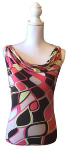 Emilio Pucci Top pink, tan , brown, multicolored
