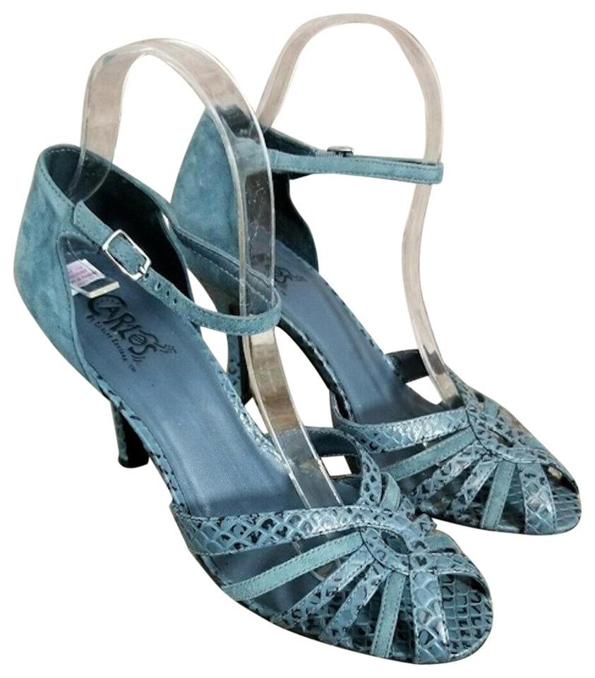 1acf9f2aa239ab Carlos by Carlos Santana Blue Black Suede Animal Print Phantom ...
