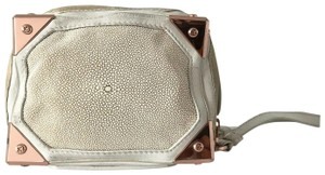 Alexander Wang Prisma Rose Stingray Trunk Wristlet in Off-White