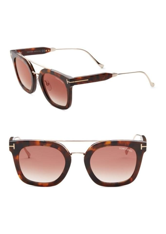 a791a66b113d6 Tom Ford NEW Tom Ford Alex-02 Double Bridge Mirrored Square Sunglasses  Image 0 ...